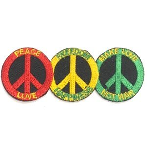 Other - Peace Sign Patch Iron On Love Hippie make Love DIY